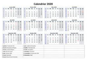 Calendrier 2020 Avec Semaines