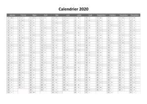Calendrier 2020 PDF