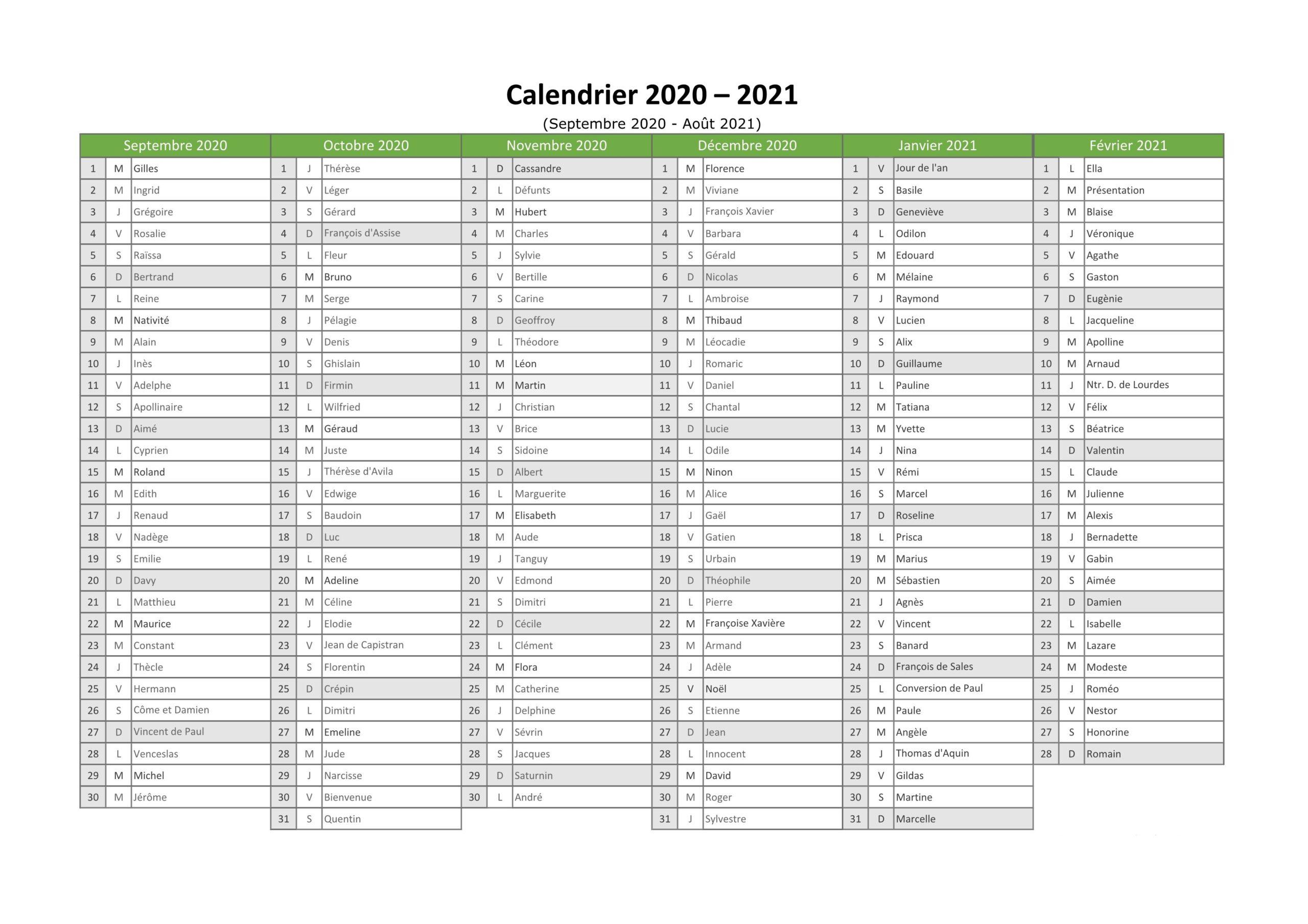 Calendrier Liga 2020 et 2021