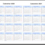 Calendrier 2020 et 2021 Semaine