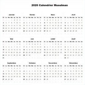 Calendrier Musulman 1441