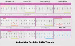 Calendrier Scolaire 2020 Tunisie