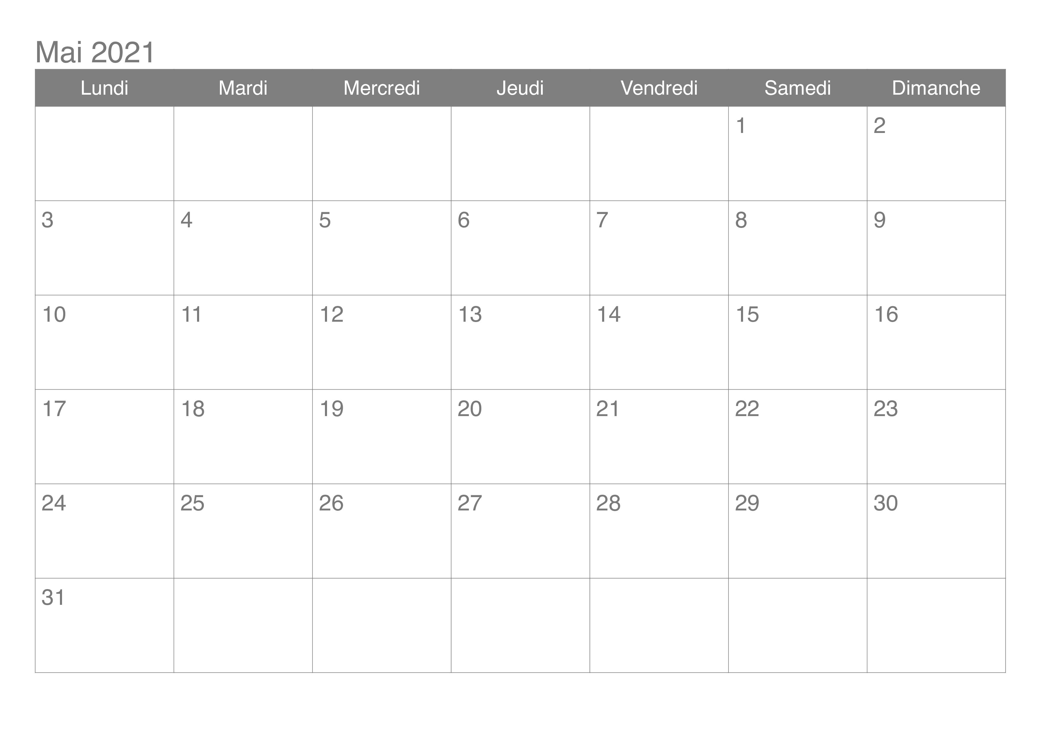 Calendrier Lunaire Notre Temps 2021 Calendrier Mai 2021 Modèles Imprimables [PDF,Word,Excel] | The