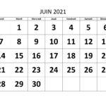 Juin 2021 Calendrier