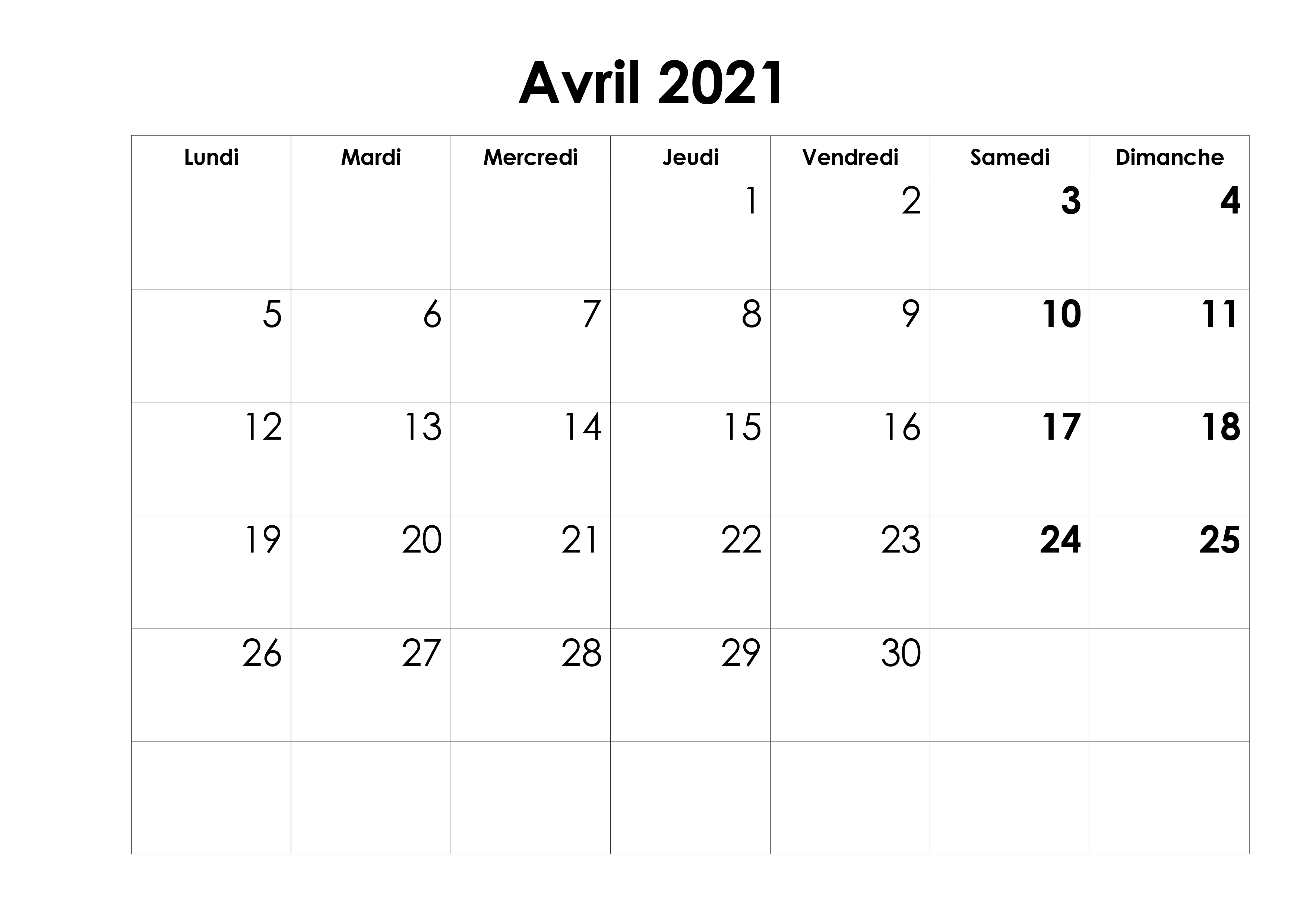 Calendrier Avril 2021 Vacances Scolaires