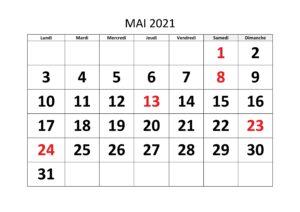 Calendrier Lunaire Mai 2021