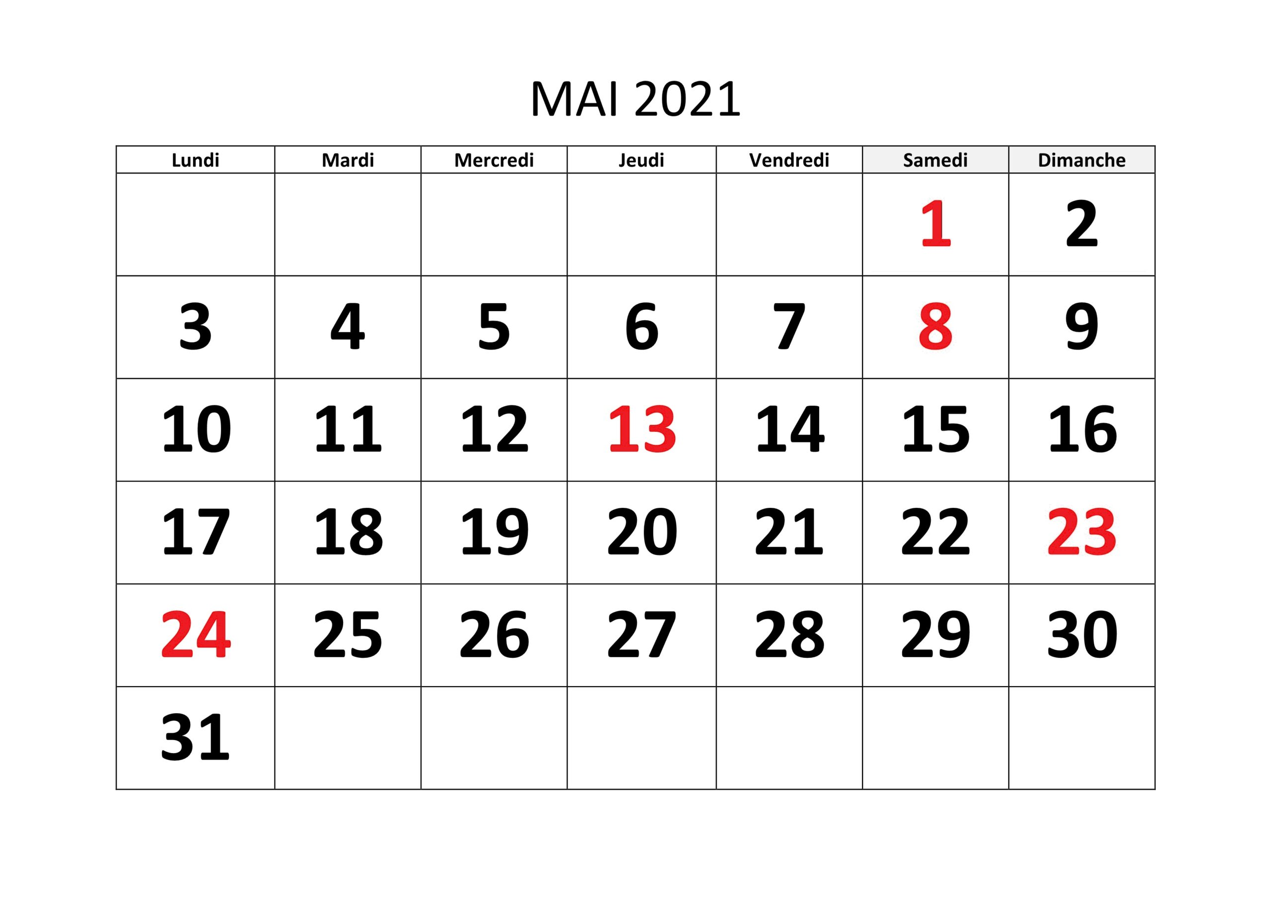 Calendrier Lune Mai 2021 Calendrier Mai 2021 Modèles Imprimables [PDF,Word,Excel] | The