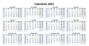 Calendrier 2021 Avec Semaines