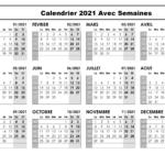 Calendrier 2021 Avec Semaines Belgique