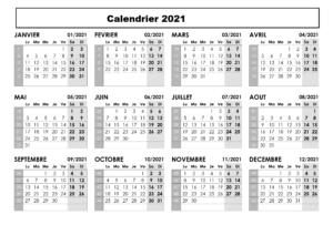 Calendrier 2021 Maroc en Arabe
