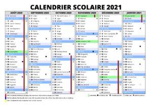 Calendrier 2021 Scolaire Zone b