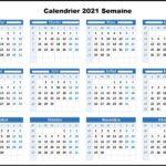 Calendrier 2021 Semaine Paire