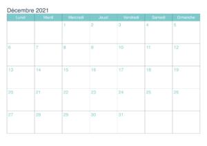 Calendrier Decembre 2021 PDF