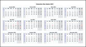 Calendrier Des Saints 2021 Imprimables