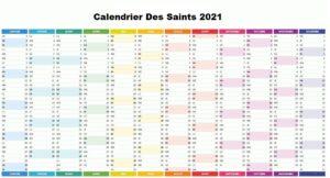 Calendrier Des Saints 2021 Du Jour