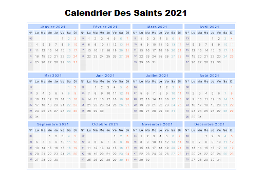 Calendrier Des Saints 2021 Bretons