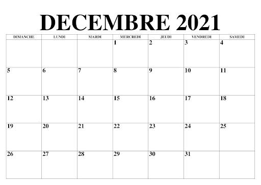 Calendrier Lunaire Decembre 2021