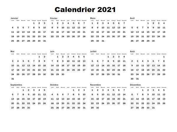 Calendrier 2021 Maroc PDF