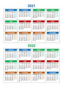 Calendrier Scolaire 2021 et 2022