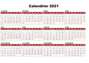 Semaine 2021 Calendrier