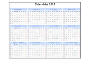 Calendrier 2022 PDF