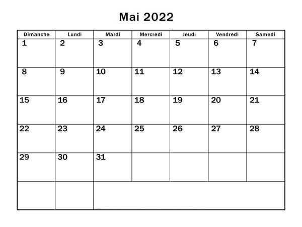 Calendrier Lunaire Mai 2022