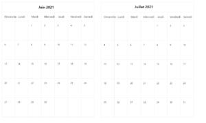 Juin Juillet 2021 Calendrier PDF