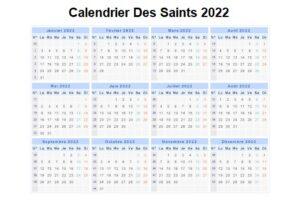 Calendrier Des Saints 2022 Bretons