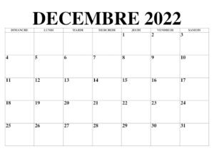 Calendrier Lunaire Decembre 2022