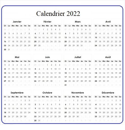 Calendrier Fetes Juives 2022