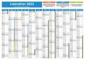 Calendrier Scolaire 2022 Tunisie