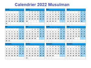 Calendrier Musulman 1443